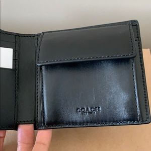 Coach Bags - Coach Coin Wallet In Signature Leather Black